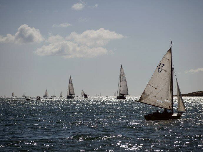 Yachts on Poole Harbour on a sunny day ©NationalTrustImages/John Millar